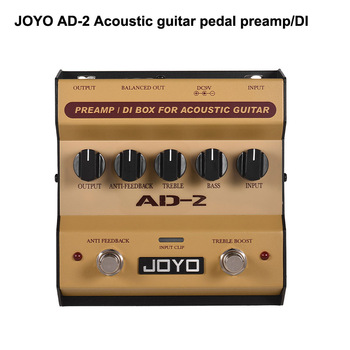 JOYO AD-2 Preamp DI Box Effect Pedal for acoustic guitars with built-in dual band EQ and 5 adjustable tune Guitarra Pedal