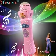 mosunx Mecall Wireless Girls boys LED Microphone Mic Karaoke