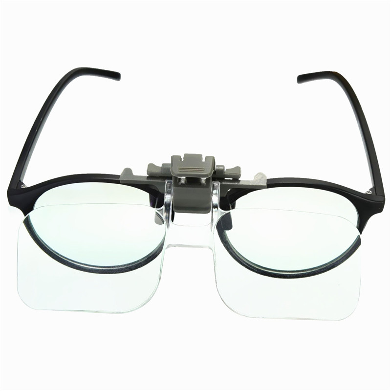 hd lens precise clip on on clear folding magnifying. Black Bedroom Furniture Sets. Home Design Ideas