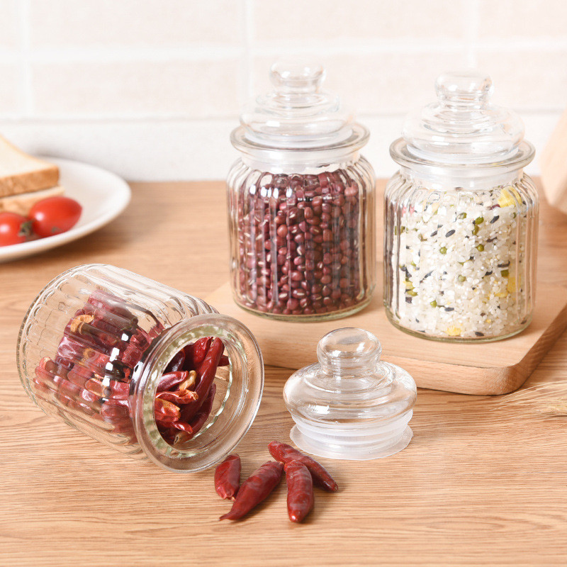 Glass Sealed Jars And Lid Storage Bottle Food Candy Storage Tea Container Caning Sealing Violetta Mason Jars Kitchen Accessories