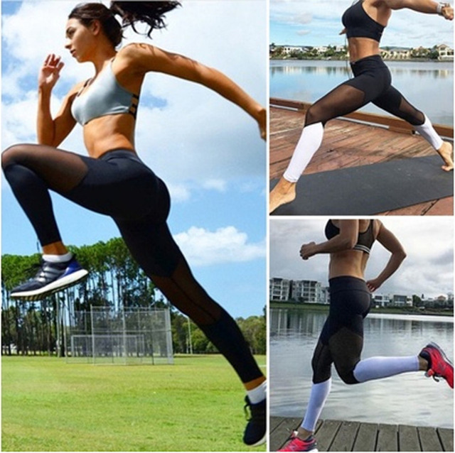 Color Block Women Fitness Leggings