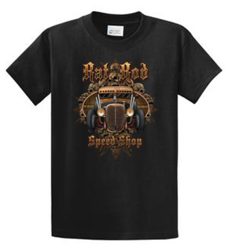 2018 Best T Shirts Rat Rod Speed Shop Mens Graphic Tees Reg to Big and Tall Sizes Port and Company Anime Casual Clothing