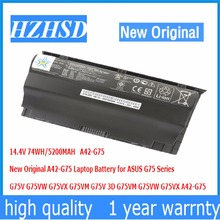 14 4V 74WH 5200MAH New Original A42 G75 Laptop Battery for ASUS G75 G75V G75VW G75VX