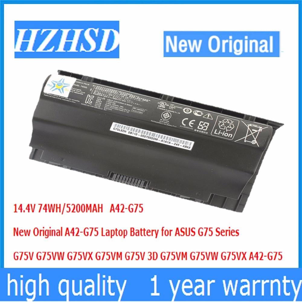 14 4V 74WH 5200MAH New Original A42 G75 Laptop font b Battery b font for ASUS
