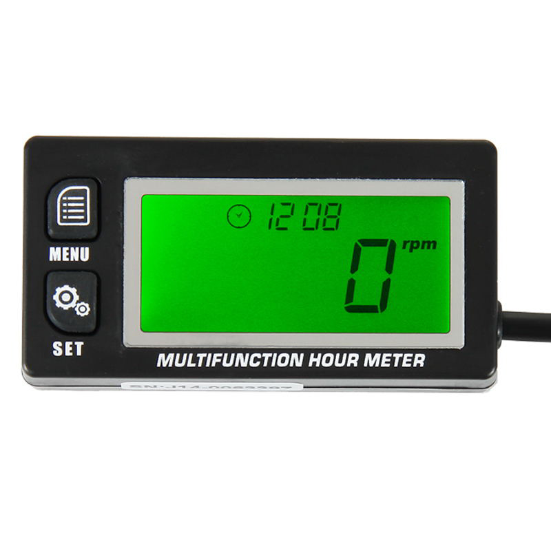 RL HM028A Inductive Temperature TEMP METER Thermometer Tachometer Max RPM Recall HOUR METER for UTV Motorcycle