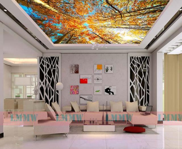Zenith wallpaper nature wallpaper fresh green foliage for Ceiling mural wallpaper