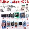 Tl866a programador 13 adaptadores + IC clipe de alta velocidade TL866 PLCC AVR PIC Bios 51 MCU EPROM programador manual russo inglês