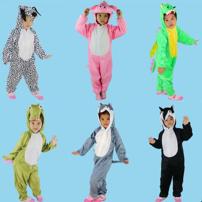 Multiple Animal Costume Children Boy Girl Bear Cat Jumpsuits Kids Cosplay Costumes  Carnival Party Dress  Halloween Christmas шаблон для мема с дрейком