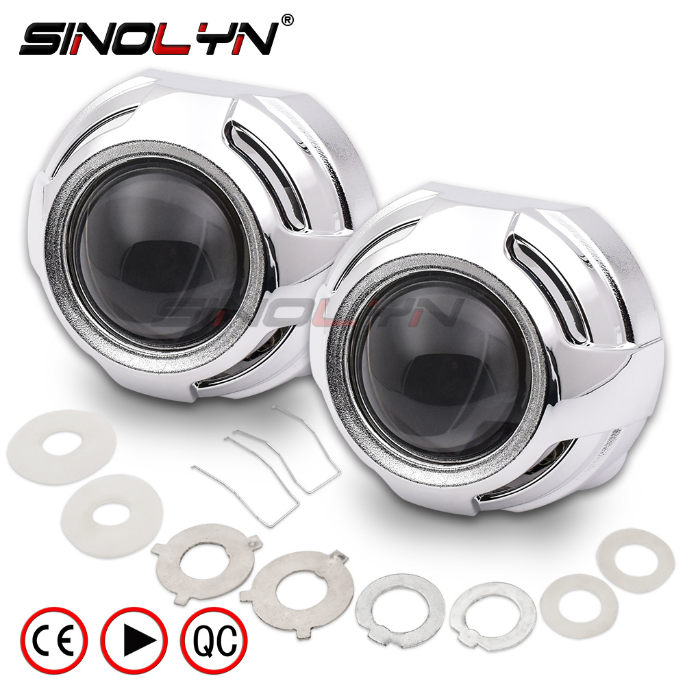 Sinolyn HID Projector Headlight Lenses 3.0 Bi-xenon Lens Super Full Metal For H7 H4 Car Accessories Tuning DIY Use H1 Xenon Bulb