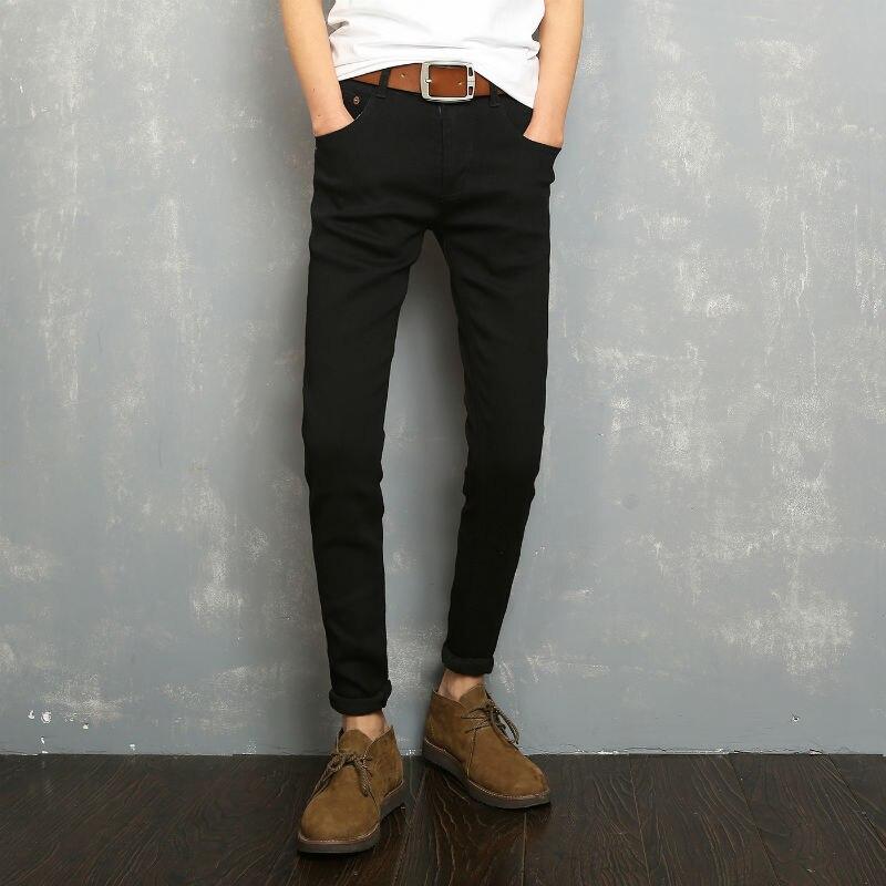 UUYUK Men Plus Size Plus Size Elastic Waist Solid Slim-Tapered Stretch Pencil Pants Trousers