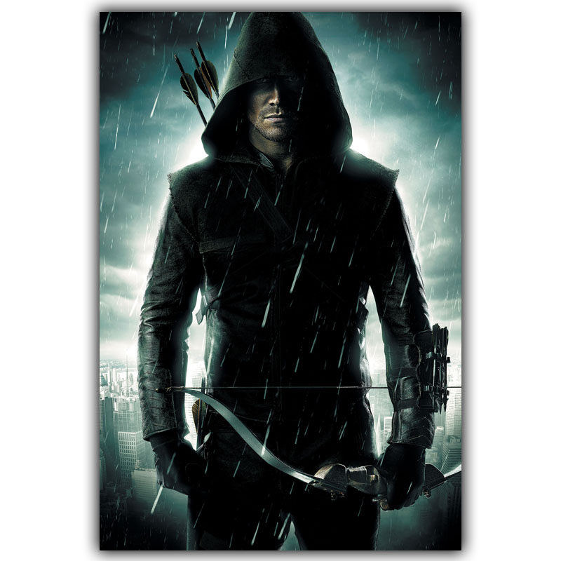 Posters arrow 2 tv series silk art print wall poster 12x18 for Living room 12x18