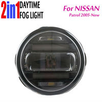 2in1 Fog Lamp Built in Daytime Running Light DRL with Len Projector DRL Automobile Night Driving Light For Nissan PATROL