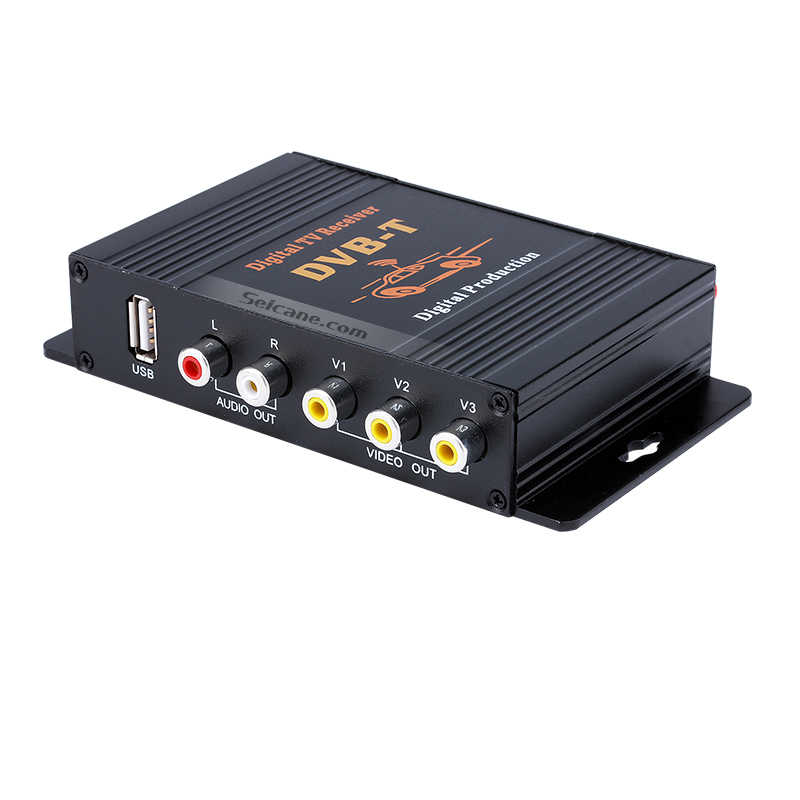 Seicane DVB-T Mobile TV Receiver Car Digital TV Tuner Swith DC12V-1A Video and Audio 140-190KM/H Output and Input High-Speed