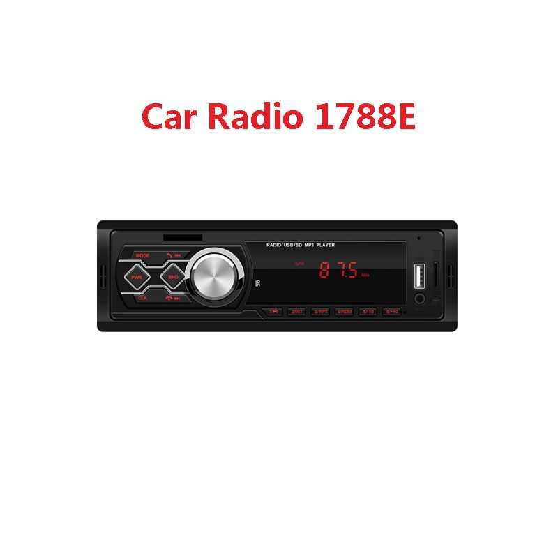 Coche Universal estéreo MP3 reproductor de música 1788 1788E 12 V FM Radio AUX TF tarjeta USB de disco U tipo de tarjeta control remoto de 4 vías de salida de Audio