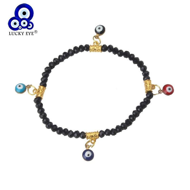 1 Pc Kleurrijke Evil Eye Charms Armbanden Kwastje Kralen Armband Kristal Strand Armbanden Voor Meisje Vrouwen Mode-sieraden We Hebben Lof Van Klanten Verdiend