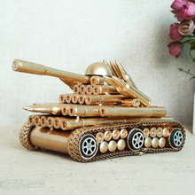 Aliexpress Sale Handmade Iron Toy Simulation bullet tank Quality Retro Model Decor Factory Direct Supply A Hobby Gift For Boys a model for direct recording electronic voting systems