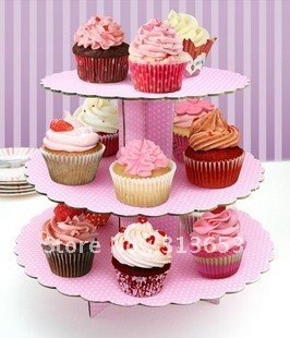 cake accessory, 3 tier  paper cupcake stand,cupcake holder,event&party supplies(31.9*26.7*32.2cm )-free shipping