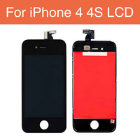 AAA Quality Black White 4 LCD For IPhone 4S 4G Touch Screen Digitizer With Frame Assembly