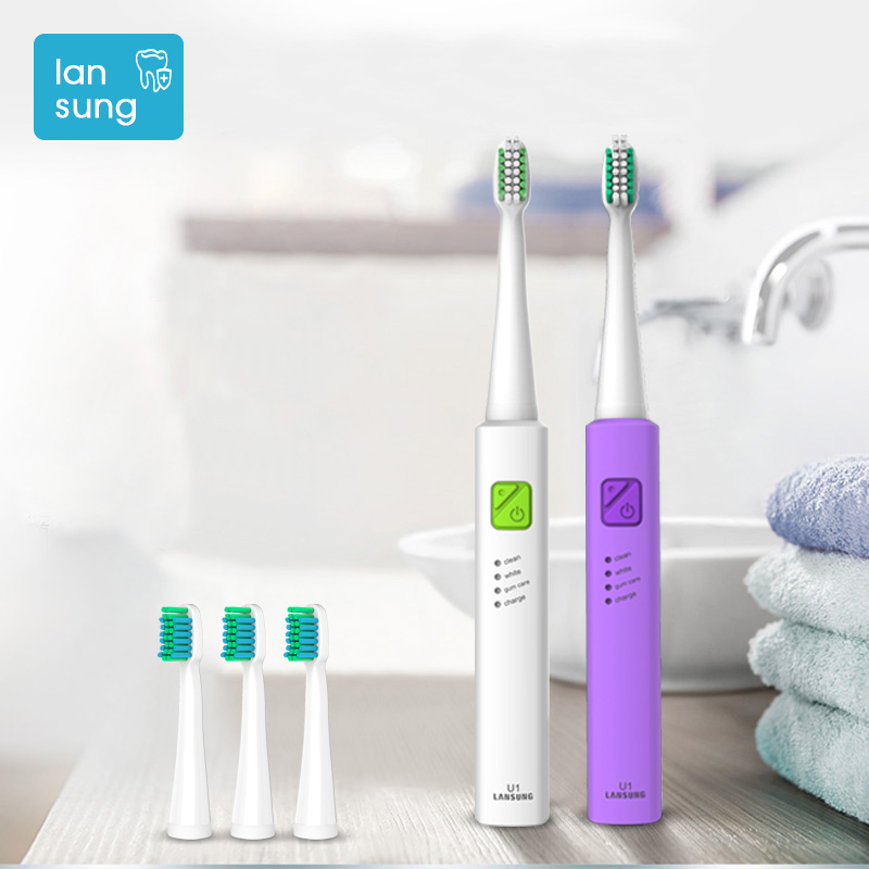 2017 lansung Electronic Toothbrushes for kids  Children Electric Toothbrush rechargeable with USB safe kids toothbrush electric Зубная щётка