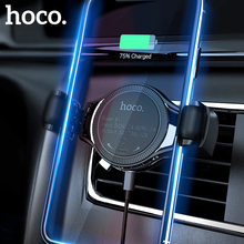 HOCO voiture Qi chargeur rapide sans fil pour iPhone XS Max X XR 8 évent voiture support de téléphone Type de roue de montage pour Samsung Xiaomi Huawei