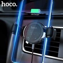Hoco carro qi sem fio carregador rápido para o iphone xs max x xr 8 suporte do telefone do carro de ventilação ar tipo roda montagem para samsung xiaomi huawei