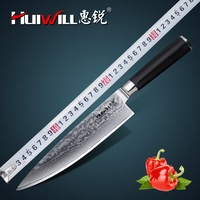 Huiwill Luxurious Japanese VG10 Damascus Steel 8 Kitchen Chef Knife Japanese Slicing Meat Knife Vegetable Knife