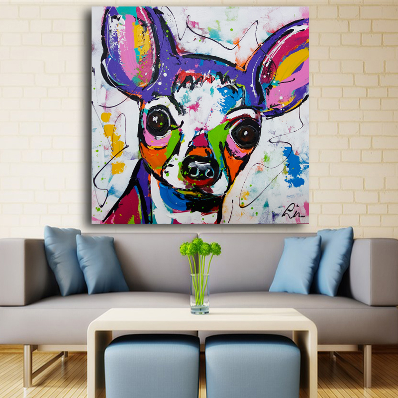 Big, Decor, Canvas, Dog, Wall, Animal