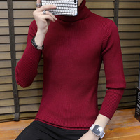 Turtleneck Sweater Men Slim Fit Korean Top Male Winter Turtle Neck Men's Pullover Jumper Polo Neck Casual Knitted Sweter 2018