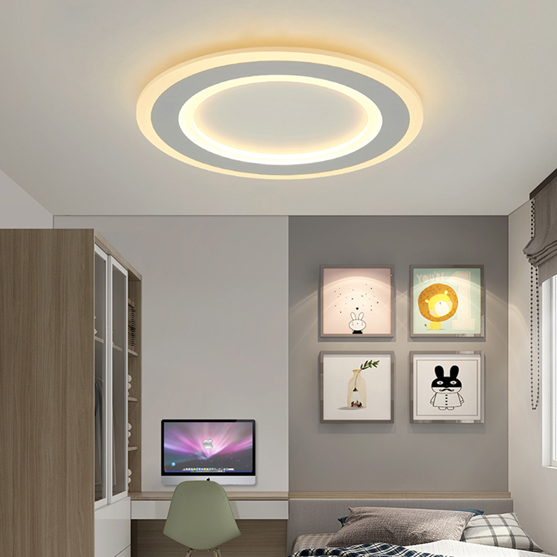 Ultra-thin Round Surface mounted modern led ceiling light for living study room bedroom AC85-265V Home Deco Ceiling lamp fixture round thin iron acrylic geometry ceiling light fixture surface mounted modern simple plafon lamp for hallway bedroom living room