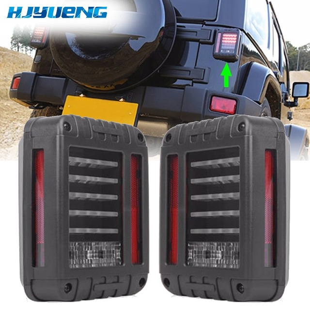 Tail Lights Kit Turn Signal Taillight Daytime Running Lights For Jeep Wrangler JK 07 17 LED Brake Reverse Stop Parking Backup