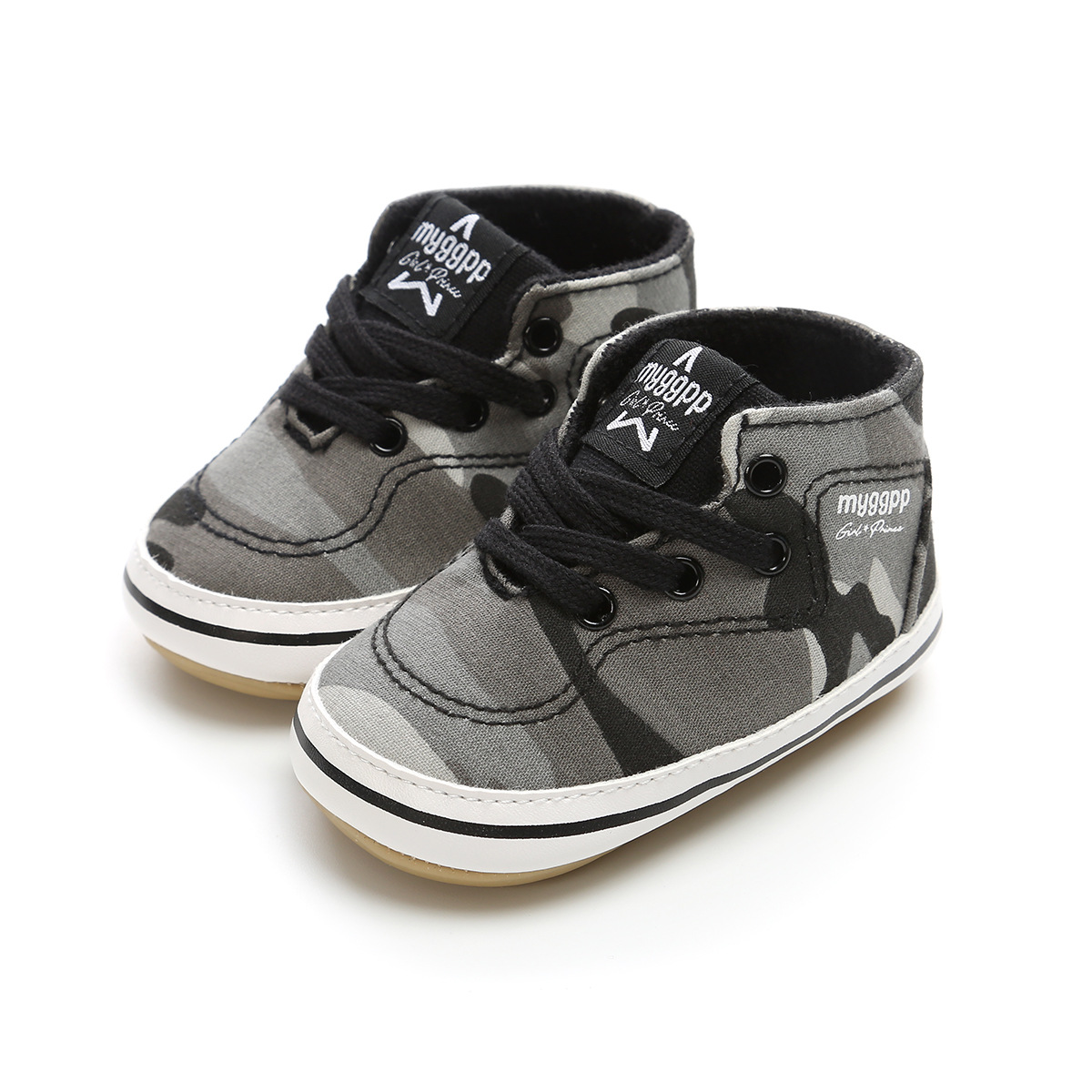 Baby Toddler Shoes Black/grey Camouflage Canvas Girl Boy First Walkers Sneakers Hot Moccs Fashion Newborn Baby Shoes Bebe.CX62B