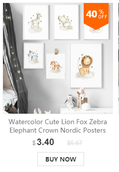 HTB1XraEafLsK1Rjy0Fb760SEXXac Nordic Posters And Prints Elephant Zebra Giraffe Panda Koala Animals Wall Art Canvas Painting Wall Pictures Baby Kids Room Decor