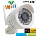 720 P HD Cámara CCTV IP Inalámbrica Mini Cámara Bala WIFI impermeable Al Aire Libre de Vigilancia de Seguridad sistema de video Infrarroja onvif p2p