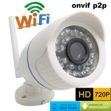720 P HD Беспроводная IP Камера ВИДЕОНАБЛЮДЕНИЯ Мини Пуля WI-FI Камера Наружного водонепроницаемый Видеонаблюдения видеосистема Ик onvif p2p