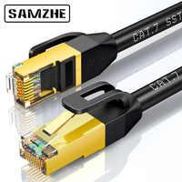 SAMZHE Cat7 SSTP Cavo Ethernet Cavo Patch per RJ45 Del Computer, XBox 360 di Rete LAN Fili dd Lacci 0.5/1/1.5/2/3/5/8/10/ 15/20/25/30/40/50m