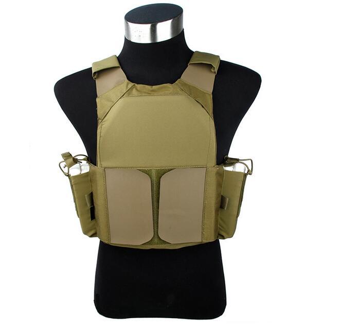 TMC2691-KK LV Plate Carrier Outdoors Tactical Vest  Khaki Cordura Fabric