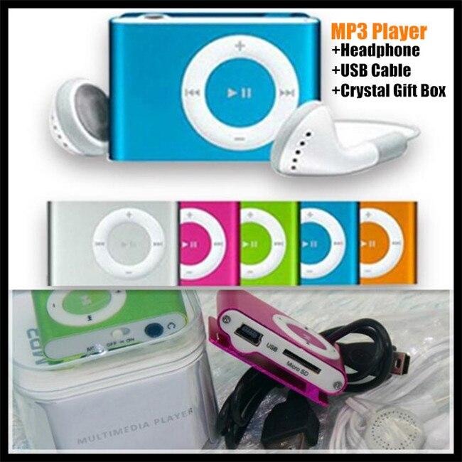 Kopfhörer Usb-kabel keine Sd/tf Karte Kristall Box Aggressiv 30 P Unterstützung 1-8 Gb Metalllegierung Shell Clip Mini Mp3-player Externe Eingesetzt Sd/tf