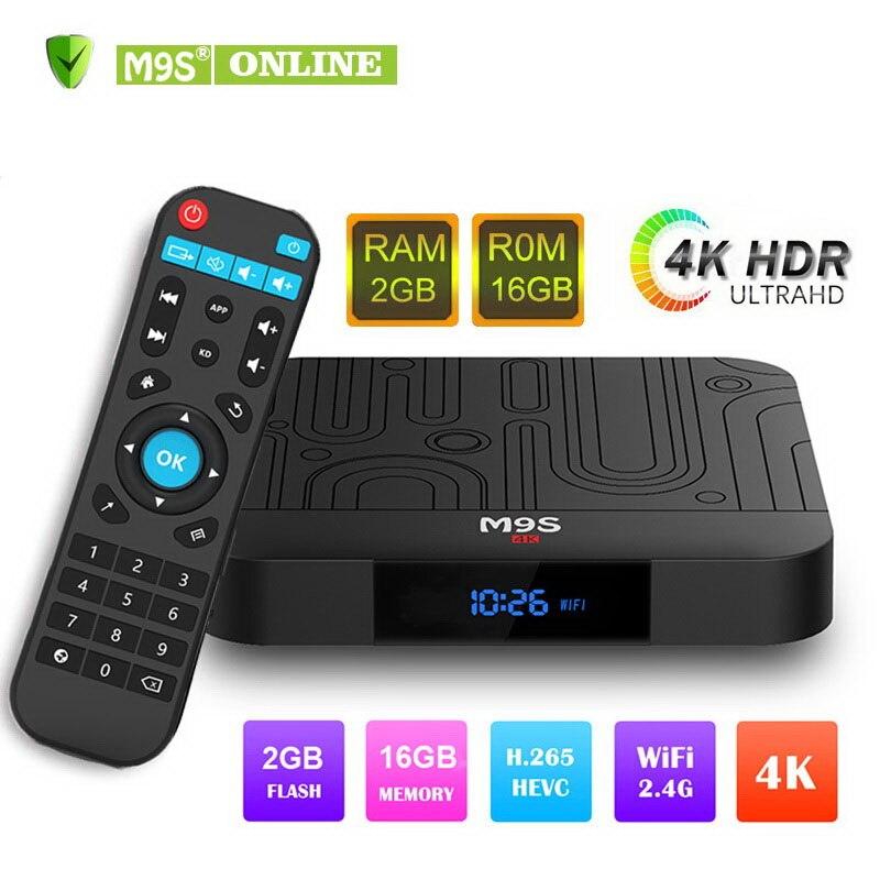 M9S W1 Amlogic S905W Android 7.1 TV BOX 2 GB 16 GB Quad Core KD 17.5 HD 4 K WiFi lecteur multimédia de Streaming intelligent + télécommande