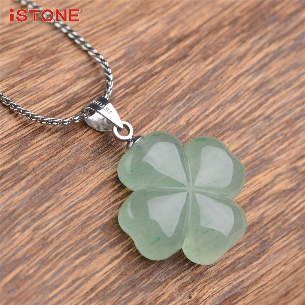 lucky irish necklace clover shamrock seal wax four pendant leaf