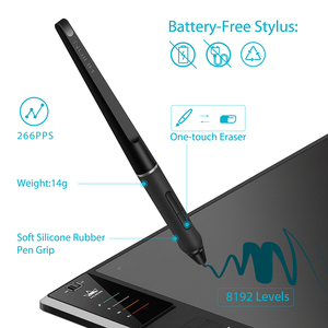 Image 4 - HUION Giano WH1409 V2 Wireless Digital Pen Tablet Graphic Drawing Tablet with Tilt Function Battery free Stylus and Glove