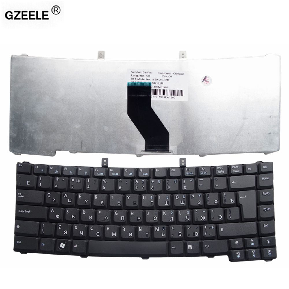 GZEELE russian laptop keyboard for ACER for TRAVELMATE 5610 4630ZG 5610G 5430G 4535 5320 4260 RU layout black replace keyboard laptop keyboard for acer silver without frame czech cz sk v 121646ck2 cs aezqs300110