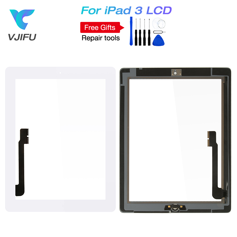 9.7 For iPad 3 Touch Screen iPad3 A1416 A1430 A1403 Touch Digitizer Sensor Glass Panel with home button and frame glue stickers9.7 For iPad 3 Touch Screen iPad3 A1416 A1430 A1403 Touch Digitizer Sensor Glass Panel with home button and frame glue stickers