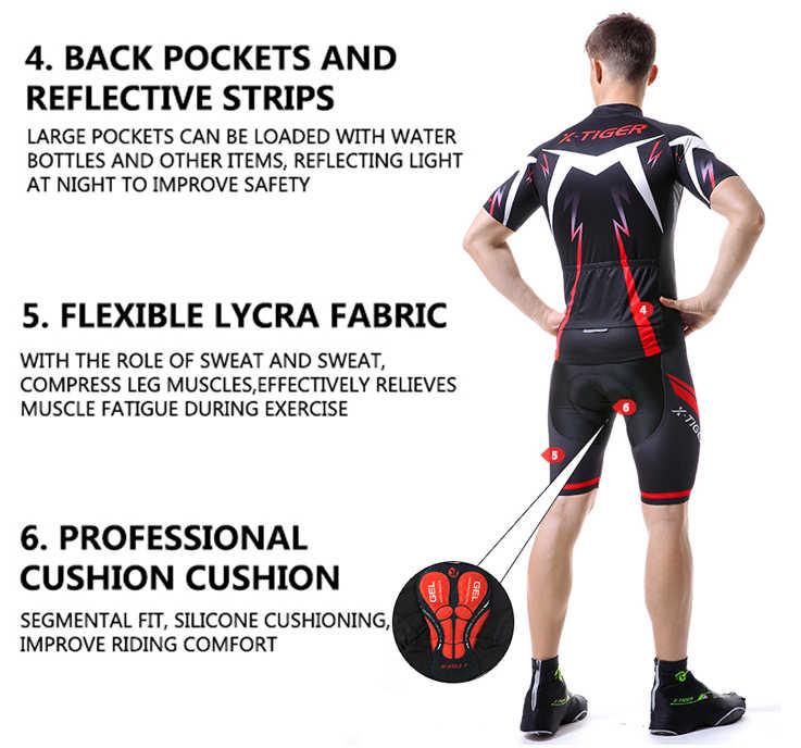 X-TIGER 2019 set Camisa de Ciclismo Estrada Mountain Bike Ciclismo Vestuário set MTB Sportswear Bicicleta Terno Ciclismo Roupas Definido Para Homem