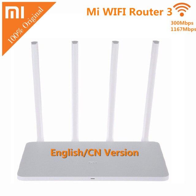 Оригинал Xiaomi Маршрутизатор 3 Mini Mi Wi-Fi Маршрутизатор 4 Антенны Roteador Dual Band 2.4 Г/5 Г wi-fi Беспроводной Маршрутизатор 1167Mbp С APP управления
