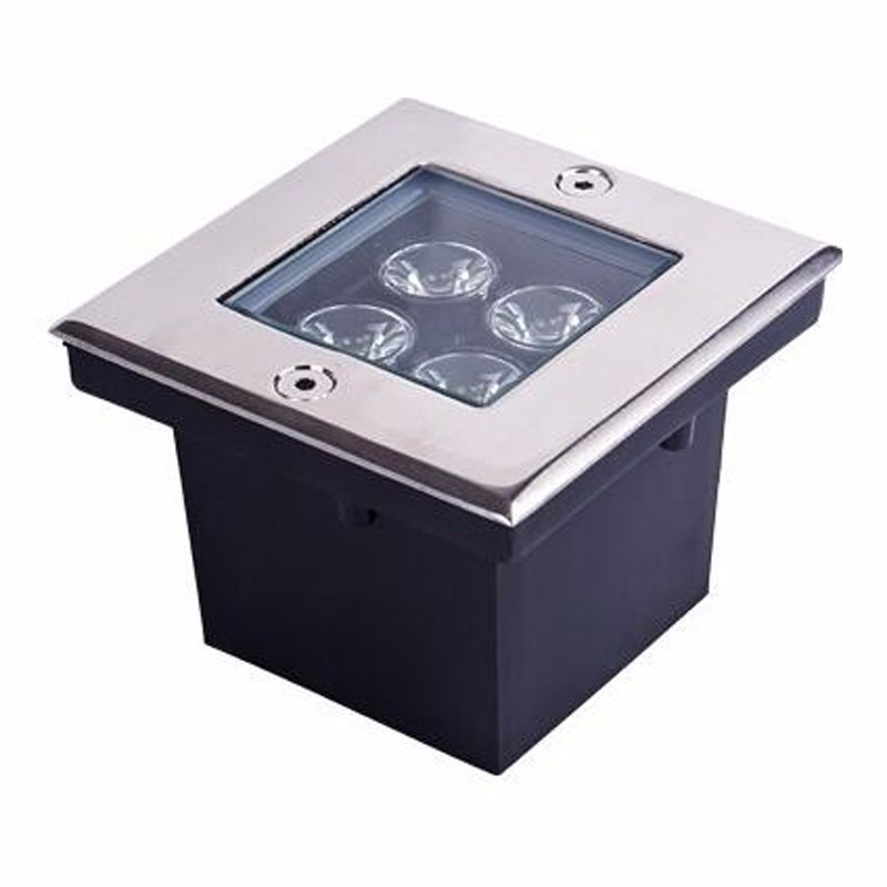Led Lamps Lights & Lighting Sweet-Tempered 5pcs/lot 4w Led Underground Light Square Led Buried Lights Ip65 Outdoor Light Waterproof Ac85-265v Spot Led Exterieur Sol Delaying Senility
