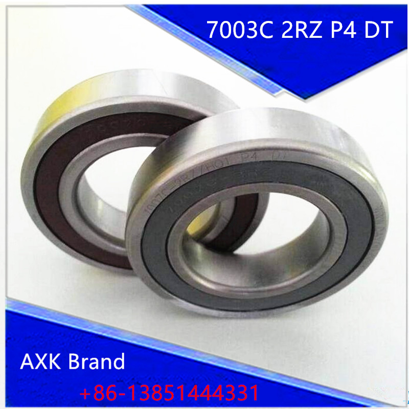 1 Pair AXK 7003 7003C 2RZ P4 DT 17x35x10 17x35x20 Sealed Angular Contact Bearings Speed Spindle Bearings CNC ABEC-7 topperr 7003