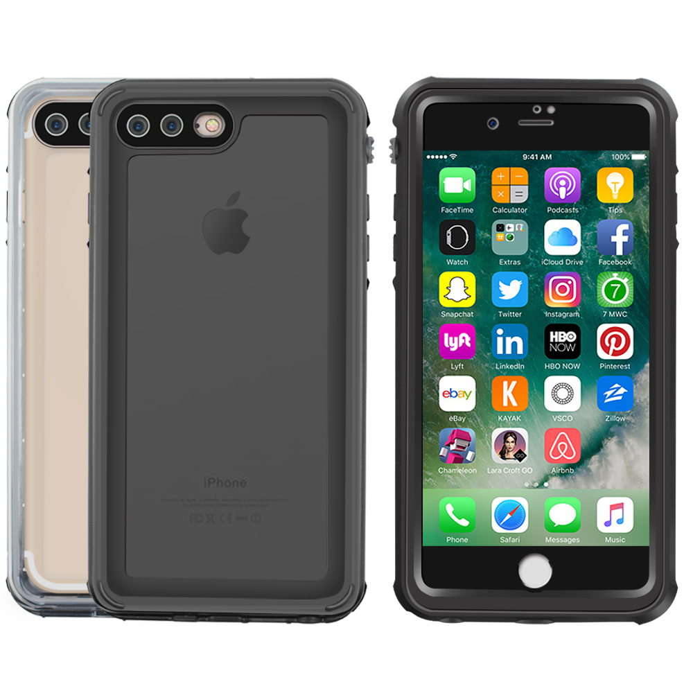 online store 55d07 b8081 US $12.06 29% OFF|Waterproof Case for iPhone 8 Plus Protective Transparent  Shield Hard Cover with Touch ID Snow proof For iPhone 7/8 5.5