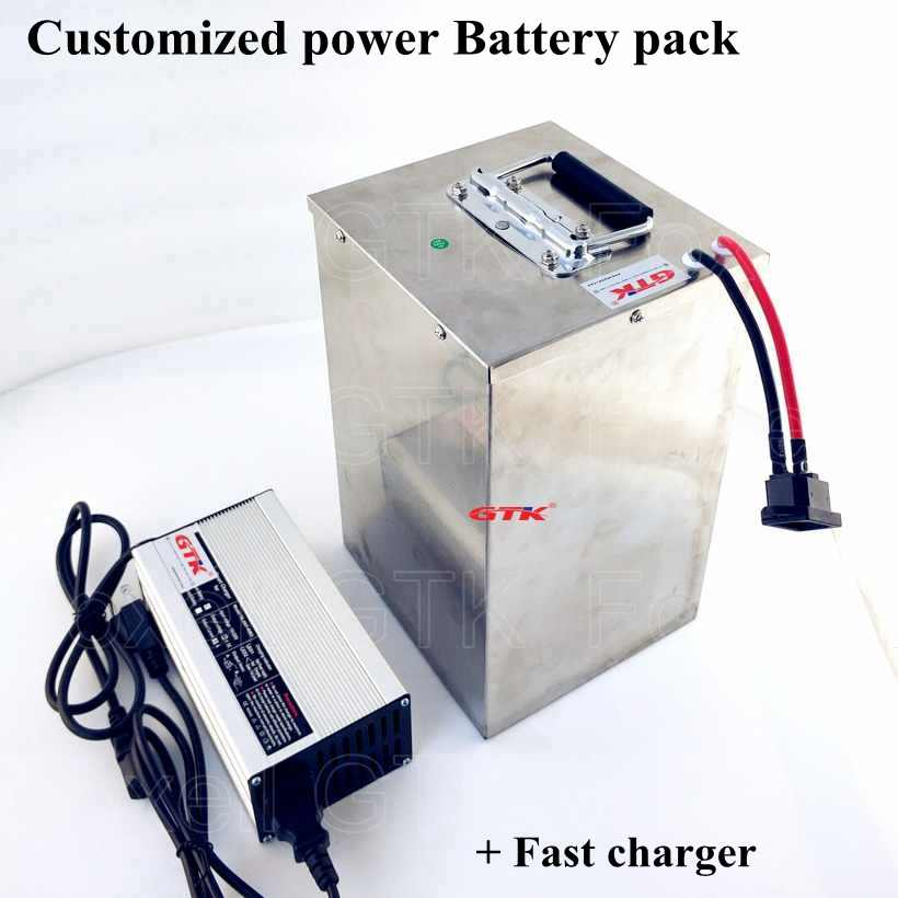 Free Shipping Rechargeable E-Bike Lithium ion Battery pack 72V 40AH Electric bicycle Battery 72V 2000W 3000W 35Ah 50Ah