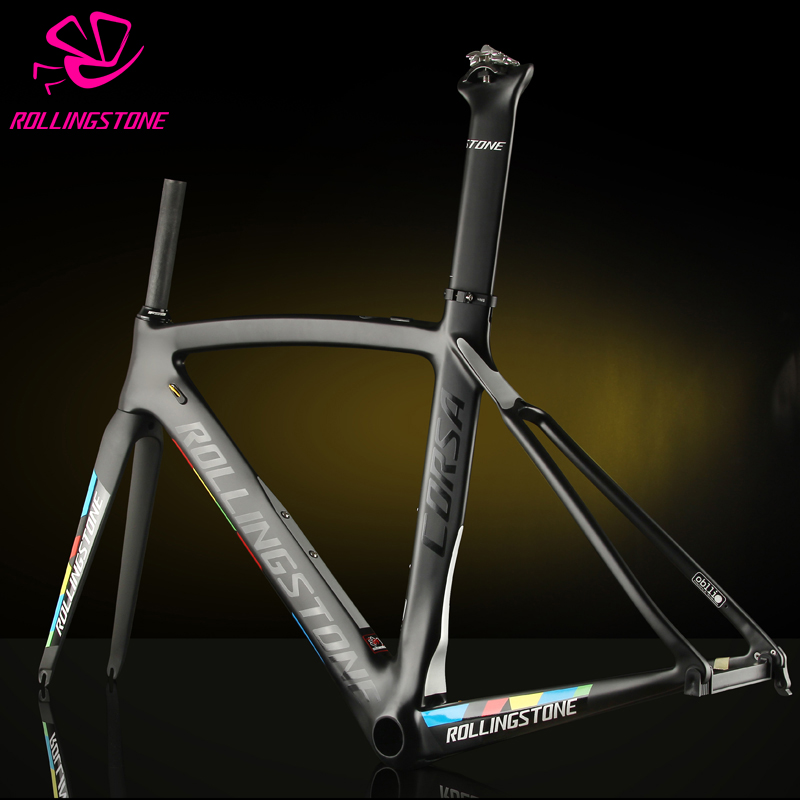 Rolling Stone Corsa Aerodynamic Road Carbon Frame set black blue 46cm 49cm 52cm UCI certified Road Bicycle frame Bike frame asus a88xm plus page 2