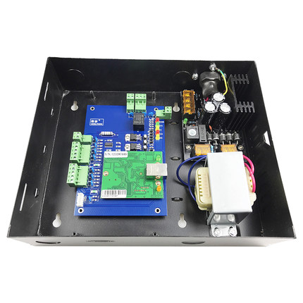 TCP one Door Access Control Board and Metal Power Supply Box For Access Control System Wiegand Access Control Panel sn:L01_set 220v to dc 12v power supply color black power 30 60w box for tcp ip door access control board panel access control system